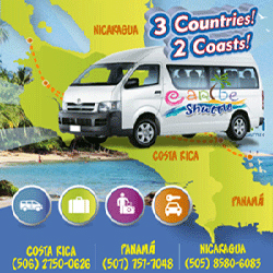 Traveling between Nicaragua, Costa Rica, Panamá? Carible Shuttle is an excelent choice. Book your private shuttle here!